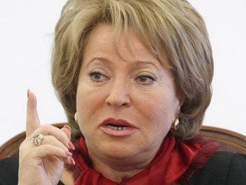Матвиенко отчитала главу минтруда на заседании Совета Федерации
